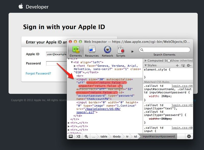 Apple-developer-no-password-paste