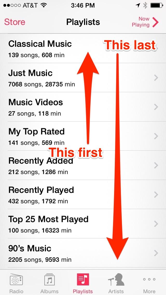 Ios-music-playlists